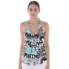 Always Making Pattern Babydoll Tankini Top