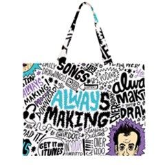 Always Making Pattern Large Tote Bag