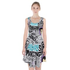 Always Making Pattern Racerback Midi Dress