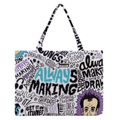 Always Making Pattern Medium Zipper Tote Bag