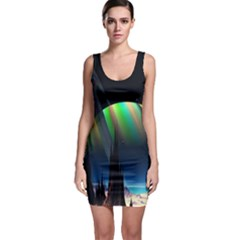 Planets In Space Stars Sleeveless Bodycon Dress