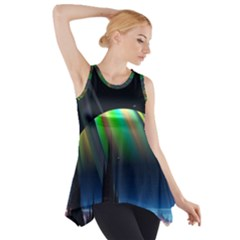 Planets In Space Stars Side Drop Tank Tunic