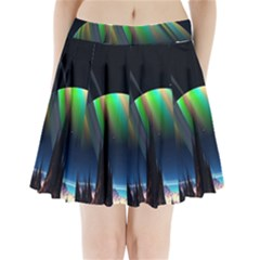 Planets In Space Stars Pleated Mini Skirt