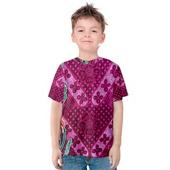 Pink Batik Cloth Fabric Kids  Cotton Tee