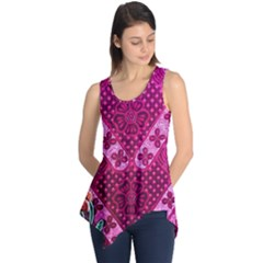Pink Batik Cloth Fabric Sleeveless Tunic