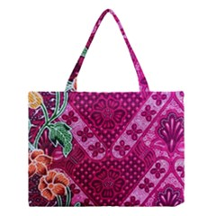 Pink Batik Cloth Fabric Medium Tote Bag
