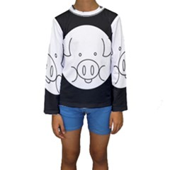 Pig Logo Kids  Long Sleeve Swimwear