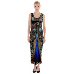 Peacock Fitted Maxi Dress