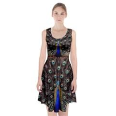Peacock Racerback Midi Dress