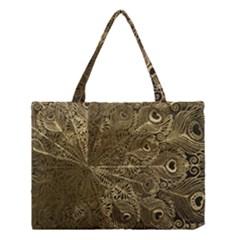 Peacock Metal Tray Medium Tote Bag