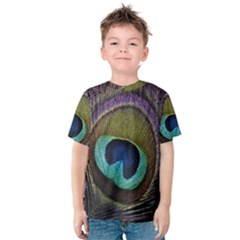 Peacock Feather Kids  Cotton Tee