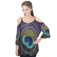 Peacock Feather Flutter Tees