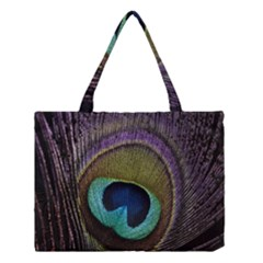 Peacock Feather Medium Tote Bag