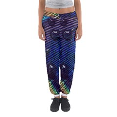 Peacock Feather Retina Mac Women s Jogger Sweatpants