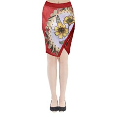 Joy Midi Wrap Pencil Skirt