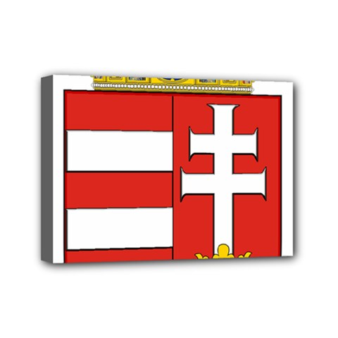Medieval Coat Of Arms Of Hungary  Mini Canvas 7  X 5