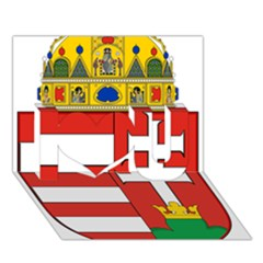 Medieval Coat Of Arms Of Hungary  I Love You 3d Greeting Card (7x5)