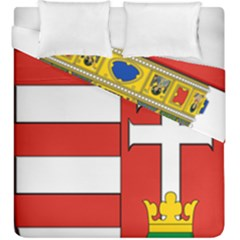 Medieval Coat Of Arms Of Hungary  Duvet Cover Double Side (king Size)
