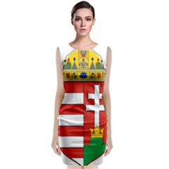 Medieval Coat Of Arms Of Hungary  Classic Sleeveless Midi Dress