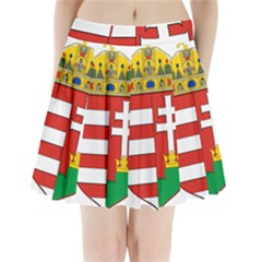 Medieval Coat of Arms of Hungary  Pleated Mini Skirt