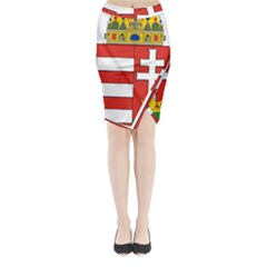 Medieval Coat Of Arms Of Hungary  Midi Wrap Pencil Skirt