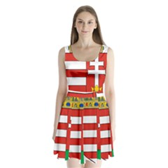Medieval Coat Of Arms Of Hungary  Split Back Mini Dress