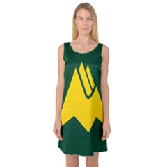 Flag Of Biei, Hokkaido, Japan Sleeveless Satin Nightdress
