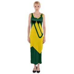 Flag Of Biei, Hokkaido, Japan Fitted Maxi Dress