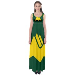 Flag Of Biei, Hokkaido, Japan Empire Waist Maxi Dress