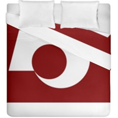 Flag Of Kumamoto Prefecture Duvet Cover Double Side (king Size)