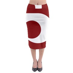 Flag Of Kumamoto Prefecture Midi Pencil Skirt