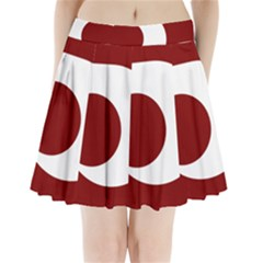 Flag Of Kumamoto Prefecture Pleated Mini Skirt