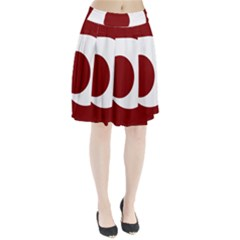 Flag Of Kumamoto Prefecture Pleated Skirt