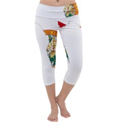 Flag Map of Florida Capri Yoga Leggings