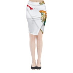 Flag Map of Florida Midi Wrap Pencil Skirt