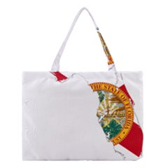 Flag Map Of Florida Medium Tote Bag