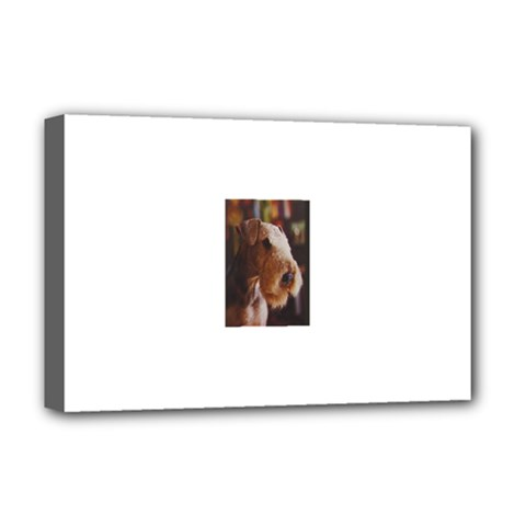 Airedale Terrier Deluxe Canvas 18  x 12