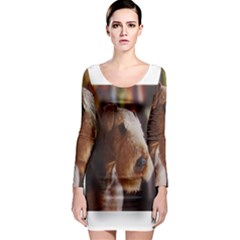 Airedale Terrier Long Sleeve Bodycon Dress