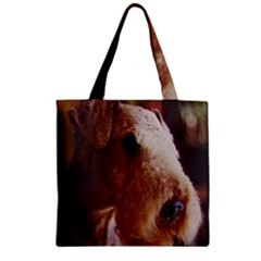 Airedale Terrier Zipper Grocery Tote Bag