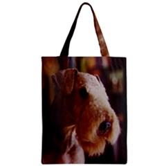 Airedale Terrier Zipper Classic Tote Bag