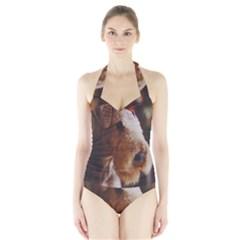 Airedale Terrier Halter Swimsuit
