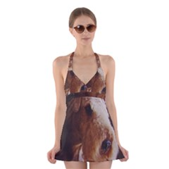 Airedale Terrier Halter Swimsuit Dress