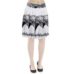 English Setter Drawing Pleated Skirt