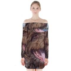 Gwp Long Sleeve Off Shoulder Dress