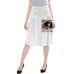 Japanese Chin Puppy Midi Beach Skirt