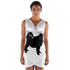Pomsky Silo Wrap Front Bodycon Dress