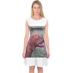 Redbone Coonhound Capsleeve Midi Dress