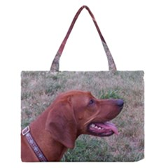 Redbone Coonhound Medium Zipper Tote Bag