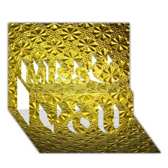 Patterns Gold Textures Miss You 3D Greeting Card (7x5)