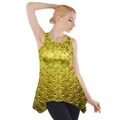 Patterns Gold Textures Side Drop Tank Tunic
